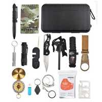 IPRee® 16 In 1 EDC Multifunctional Tools Kit Bag Camping Survival Emergency SOS Case