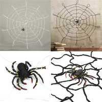 Halloween Party Home Decoration Large Spider Web Honor Props Toys For Kids Children Gift