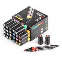Genvana 24 Colors 1.5mm-3mm Professional Double Point Marker Pen For Art