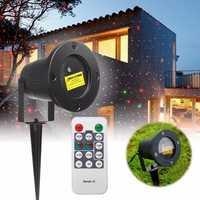 R&G LED Laser Projector Stage Light Remote Waterproof Outdoor Landscape Garden Yard Decor