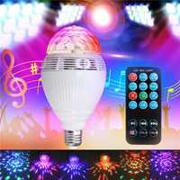 E27 RGB Smart bluetooth LED Stage Light Bulb Auto Rotation Music Play Lamp for Party Club AC110-240V