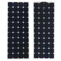 Elfeland 140W 23V Sunpower Semi-flexible Solar Panel 1.5m Cable For Home RV Boat