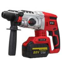 68V/88V Electric Brushless Hammer Cordless Power Impact Drill with Lithium Battery US
