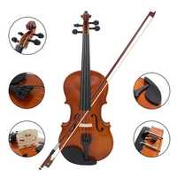 1/4 Size Violin Fiddle Basswood Steel String With Arbor Bow for Beginners B5O5