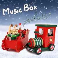Christmas Music Box Birthday Gift Music Toy Reindeer Train Design