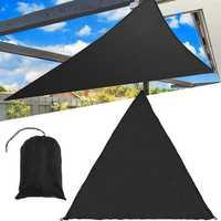 3/5M Extra Heavy Duty Shade Sail Sun Canopy Outdoor Triangle Garden Yard Awnings Summer Car Sunshade