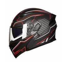 JIEKAI JK902 Full Face Motorcycle Helmet Double Lens Flip Up Motorbike MOTO Motocross Scooter Dual Visor Helmets