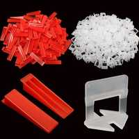 600 Tile Leveling System Wedges and Clips Spacer Plastic Tiling Tools