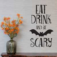 KST-4 Halloween Bat PVC Wall Stickers Living Room Bedroom Decoration Wall Stickers