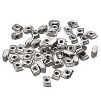 Drillpro 50pcs M3 T Sliding Nut Zinc Plated Carbon Steel T Sliding Nut for 2020 Aluminum Profile