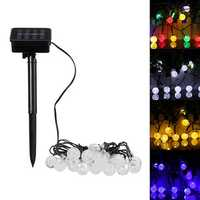 Solar Powered 20 LED Ball Fairy String Light Christmas Party Outdoor Garden Patio Decorative Lamp