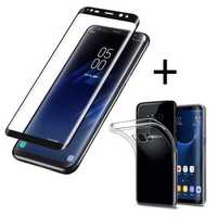 Bakeey™ 3D Curved Edge Tempered Glass Film With Transparent TPU Case for Samsung Galaxy S8