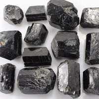 100g Black Natural Rough Tourmaline Quartz Stone Specimen Healing Gem Accessories