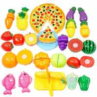 24PCS Cutting Vegetable Fruit Kitchen Food Pretend Role Play Toy Children Gift Set