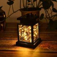 Solar Hanging 30 LED Warm White Copper Wire String Light Lantern Waterproof Outdoor Garden Decor