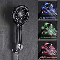 Digital LCD Display Temperature Control 3 Colors LED Water Power Shower Head Powered Spray for Baby Pregnant Women