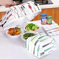 Food Cover Keep Warm Vegetable Cover Folding Aluminum Foil Cover Dishes Insulation Utilidades Kitchen Gadgets