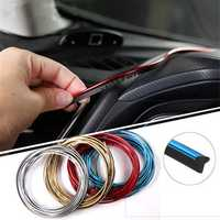 5m Car Interior Moulding Trim Strip Insert Type Flexible Decoration Dashboard Door Edge Line