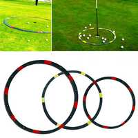 2/3/6ft Portable Eyeline Golf Target Circle Sports Swing Training Aid Practice Golf Tool Accessories