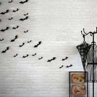 12pcs Halloween 3D Black Bat Wall Sticker Halloween Party Home Decoration