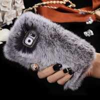 Silky Rabbit Hair Diamond Case Cover For Samsung Galaxy S7 Edge