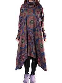 Vintage Women Printing Dress