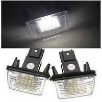 2PCS 18 LED SMD License Number Plate Light For Peugeot Citroen