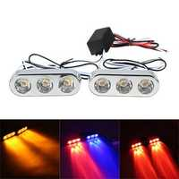 12V Car Motorcycle LED Tail Brake Driving Strobe Flashlight Lamp Red Blue Yellow