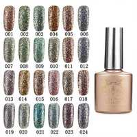 24 Colors Glitter Diamond-sliver Micro Grain Nail Art UV Gel Polish Soak Off Dreamlike
