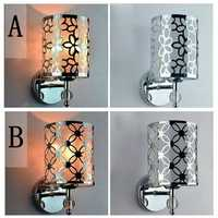 Modern Creative Pastorale Iron Crystal Wall Light Hallway Bedroom Lamp