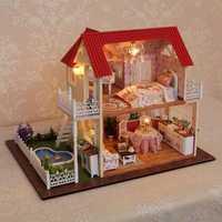 Cuteroom DIY Wooden Dollhouse Princess Room Handmade Decorations Birthday Gift