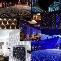 LED Net Light 4.2M x 1.6M 300leds AC220V Christmas Fairy String Light