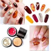 4 Colors Amber UV Gel Polish Nail Art Painting Design Color Gradate Drawing Translucent Manicure