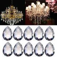 10PCS Clear Chandelier Glass Crystal Lighting Prisms Hanging Drops Pendants 38MM