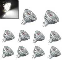 1X 10X MR16 3W 300LM Pure White Energy Saving LED Spotlightt Bulb 12V