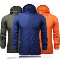 Mens Casual Outdooors Sport Hiking Hooded Jacket Double Sided Wear Coat Windbreaker 5 Colors