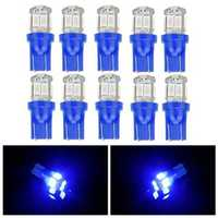 10 pcs T10 5630 10SMD Blue LED Maker Light Car Door Side Reading License Plate Bulb