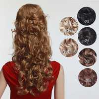 7Pcs NAWOMI Body Wave Heat Resistant Friendly Clip In Synthetic Hair Extension 17.7 Inch #30 Brown