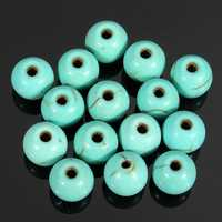 100Pcs 6mm Round Turquoise Loose Spacer Beads Jewelry Making