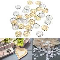 300Pcs 9mm Gold Silver Flower Bead Caps DIY Jewelry Findings