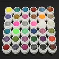 DANCINGNAIL 36 Colors 5ml Small Glitter Shiny Powder UV Gel Builder Nail Art DIY Manicure