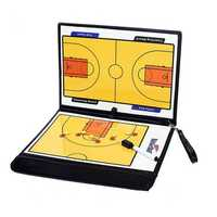Folding Magnetic Piece Basketball Coach Board Tactical Plate Tactics Book Set With Pen Teaching Clip