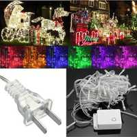 10M 100LED Fairy String Christmas Light Outdoor Waterproof Wedding Holiday Party Lamp US Plug 110V
