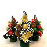 Mini Christmas Xmas Tree Desk Table Decoration Ornament