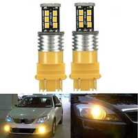 2x 3157 High Power 15W 2835SMD LED Rear Turn Signal Light Indicator Bulbs Amber Yellow
