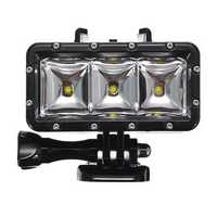 30M Waterproof Diving Lights High Power LED Flash Fill Lights with Battery for Xiaomi Yi Gopro Hero 3 3+ 4