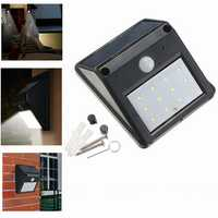 12 LED Solar Powered PIR Motion Sensor Light Outdoor Garden Security Wall Light