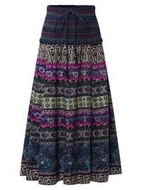 Bohemian Printed High Elastic Waist Women Skirts