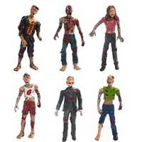 Six Set Zombie Model Terror Corpse Action Figures Model Toys For Kids Children Gift