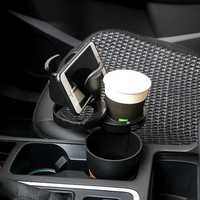 RUNDONG Camera Shape Car Drink Cup Holder Multifunctional Magic Phone Sunglasses Beverage Stand